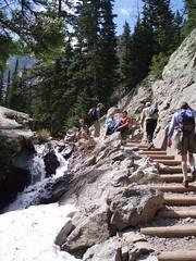 Hiking to Emerald Lake, RMNP