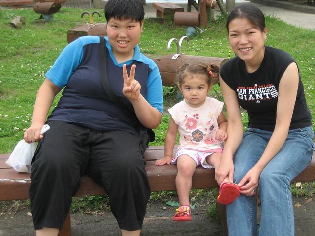 Aunt Erina, Hana, and Motomi | At Omaezaki Park, Hana in her
