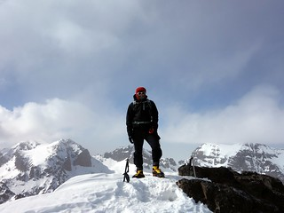 Me on the summit of Toubkal West with Timesguida n-Ouanoukrim, Ras n-Ouanoukrim, Akioud and Afella behind | by markhorrell