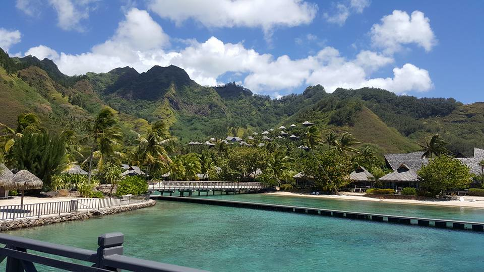 Moorea Tahiti Located Only Ten Nautical Miles From Tahiti