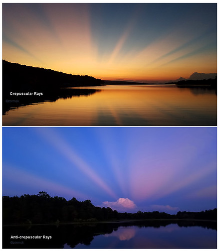 crepuscularrays zormsk arkansas lakedardanelle sunset opticalillusion sunlight water orange blue rays horizon anticrepuscularrays meteorology atmosphere weatherphenomena