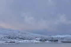 The first snow on Håkøya