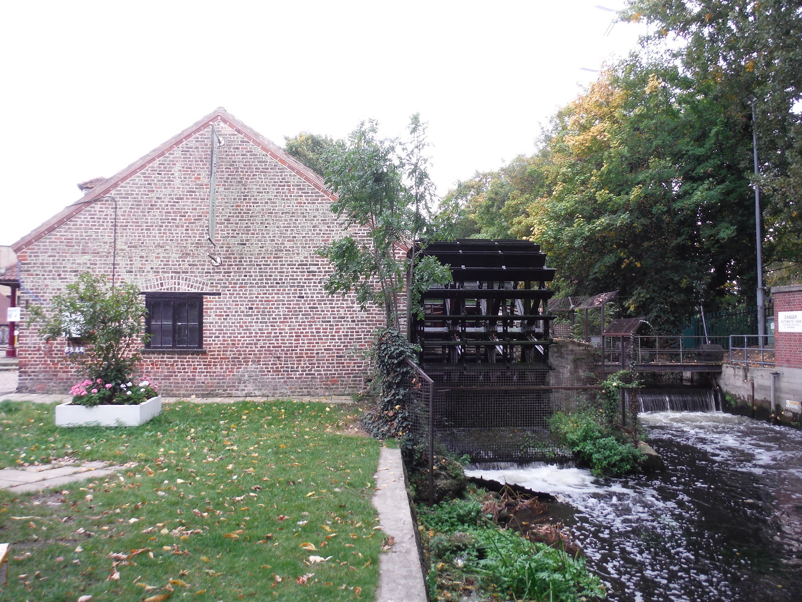 Wheelhouse on River Wandle, Merton Abbey Mills SWC Walk Short 13 - Morden Hall Park and Merton Abbey Mills