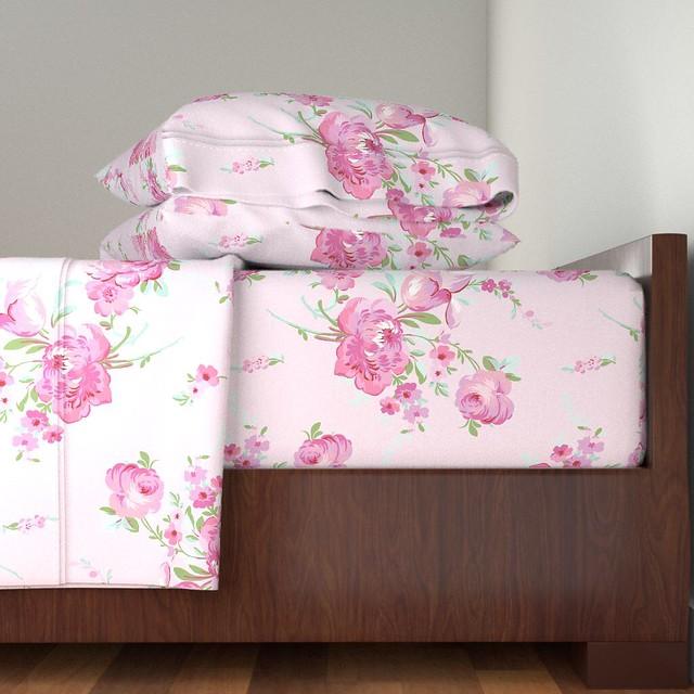 Olivia in sorbet pink as sheet set