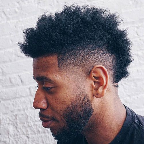 Black Men\u0027s Haircuts  Low Faded Mohawk + Line Up + Loose