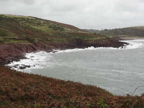 Wales Coast Path, looking back towards Manorbier | by Mary Loosemore