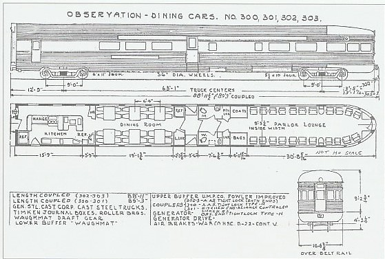 CB&Q diner obs, diagrams  John Coyle scan    from the OCTOBE
