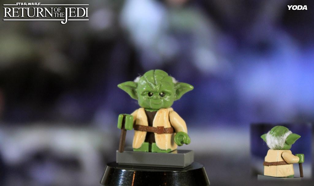 Custom Lego Star Wars Return Of The Jedi Yoda A Photo On Flickriver