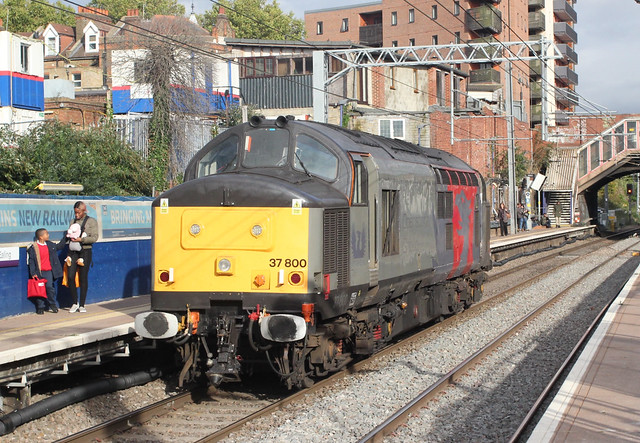 2 ) Europhoenix / Rail Operations Group . 37800 . West Ealing Station , London . Tuesday 10th-October-2017 ,