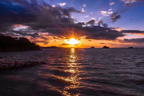 sunset sea sky cloud sun setonaikai setouchi imabari ehime japan shikoku sony rx100m3