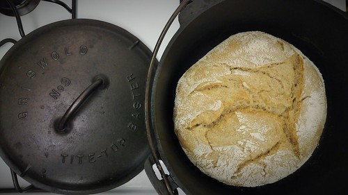 No-knead sourdough bread in Griswold Dutch Oven | by Nutrition, Food Safety & Health