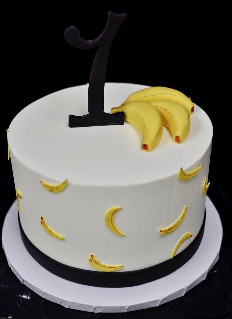 Pleasant Banana First Birthday Cake Jenny Wenny Flickr Funny Birthday Cards Online Elaedamsfinfo