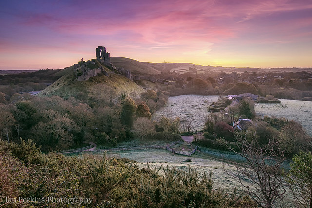 First Frost - Corfe Castle, Dorset