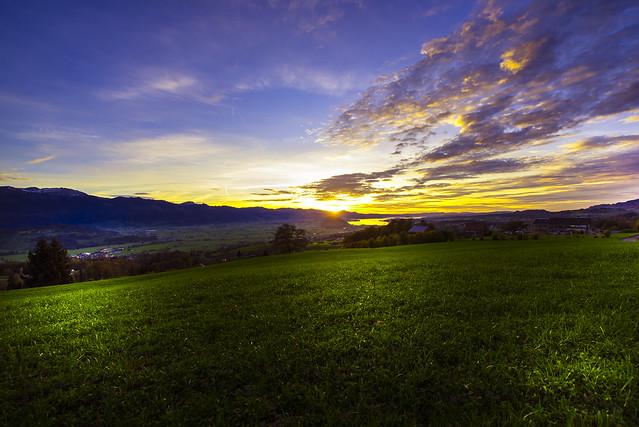 Sunset view from Uetliberg - St.Gallen - Switzerland