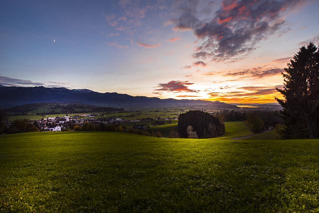 Evening view to Kaltbrunn - St.Gallen - Switzerland