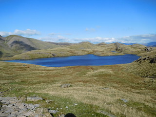 27 - Sprinkling Tarn in front of Seathwaite Fell | by samashworth2