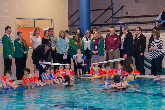Ribbon Cutting - YWCA pool