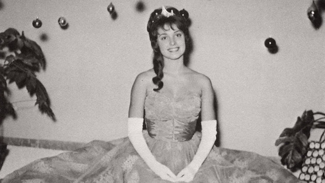 Sharon Tate, Homecoming Queen, Vicenza American High School,  Italy, 1960