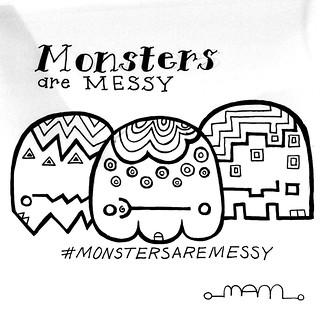 Gathering of monsters. #monstersaremessy #monster #monsters #inktober #inktober2017 #patterns #blackandwhite #drawing #characterdesign #tattoo
