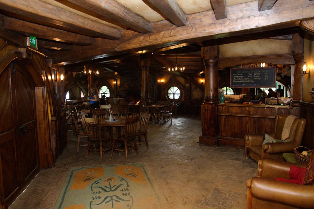 Entrance and bar