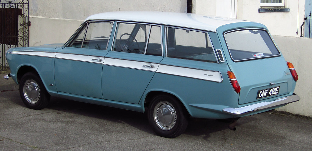 Old Ford Cortina Mk I estate car | I just had to get a photo