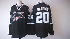Men's San Jose Sharks #20 Evgeni Nabokov Black Adidas Stitched Jersey