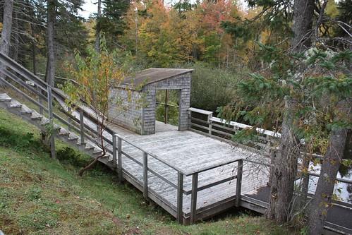 peakes pei canada fall autumn foliage leaves pond