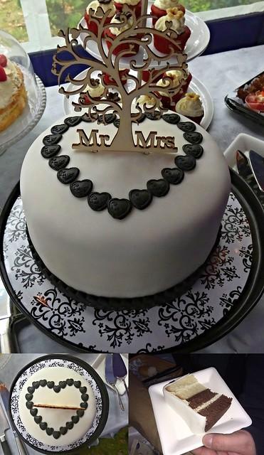 My homemade wedding cake - Mein selbst gemachtes Hochzeitstörtchen