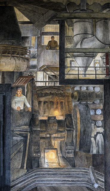 Industries of California - steel, Coit Tower Mural