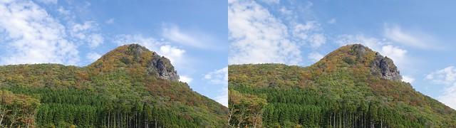 Mount Kamakura, stereo cross view