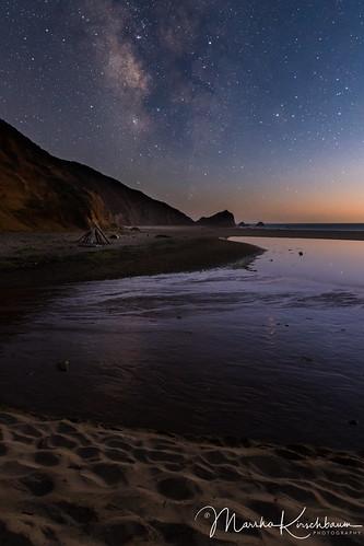 Milky Way in the Moonlight - McClures Beach
