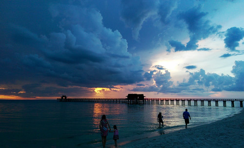 sunset colourful colorful america florida naples storm htc one m8