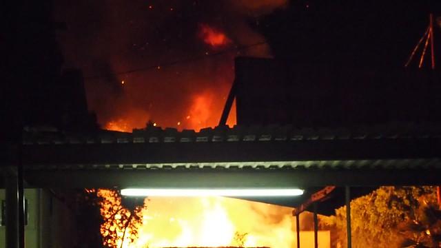 QA170002 Fire next to Pepes Krebs Automotive