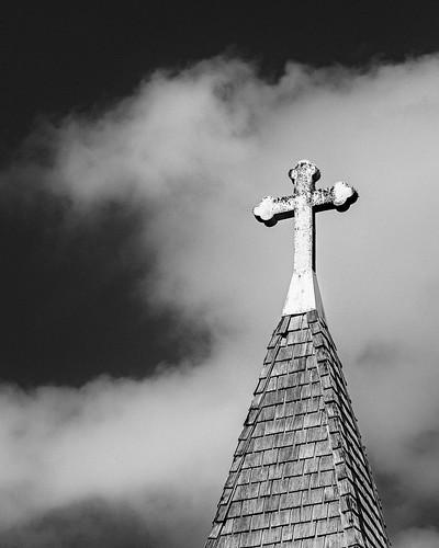 bw blackwhite blackandwhite chapel church clouds cross monochrome sansalvador sky caldwell texas unitedstates us