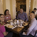 Members and guests enjoying breakfast at Simply Crepes at the satellite meeting.
