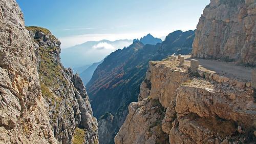 italy veneto mountains autumn alps easthernalps venetianprealps militaryworks wwi