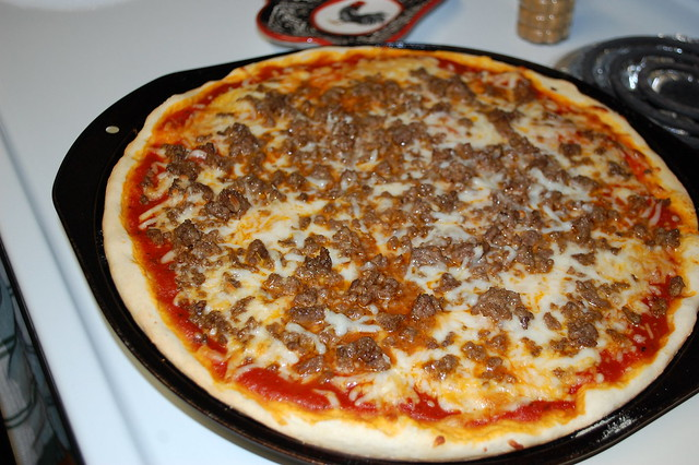 Pizza On The Stove.
