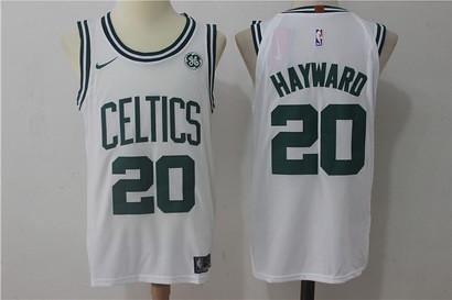 NBA Men's Boston Celtics #20 Gordon Hayward White 2017-2018 Nike Swingman Stitched Jersey