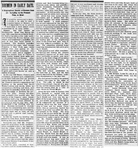 1887 - History of Bremen - Enquirer - 24 Dec 1887 | by historic.bremen