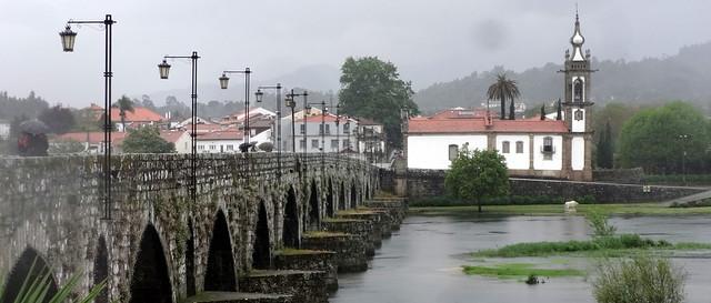 Cityview of Ponte de Lima. Portugal.