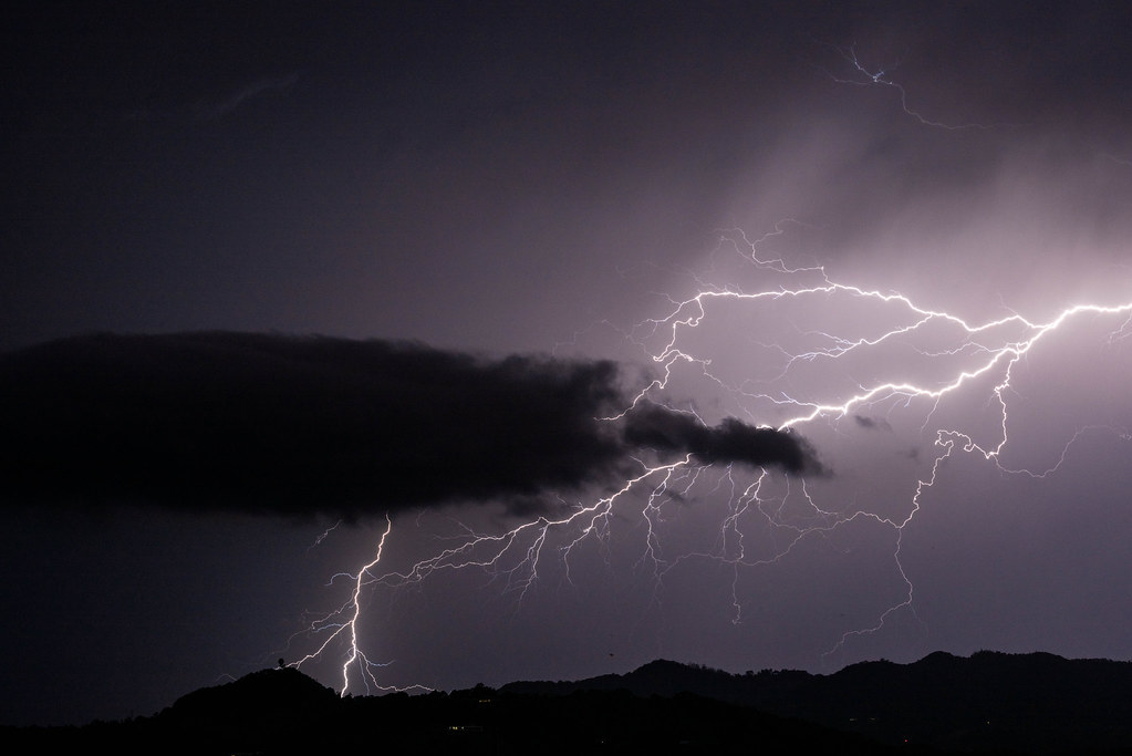 Lightning and the Gold Coast Radar Dome | The thunderstorm s