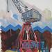 Clydeside Crane, Gouache on paper, 52x64cm