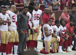 San Francisco 49ers National Anthem Kneeling | by KA Sports Photos