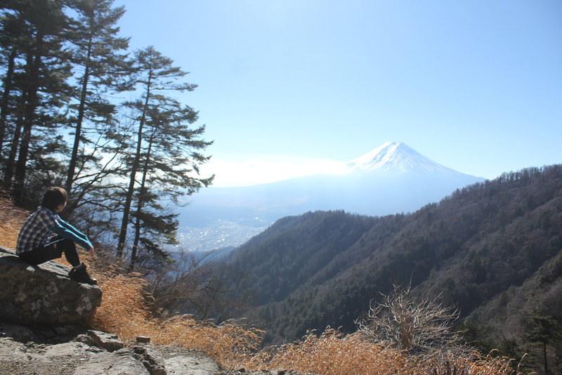 三つ峠から富士山