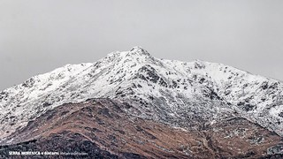 First snow over the mountain