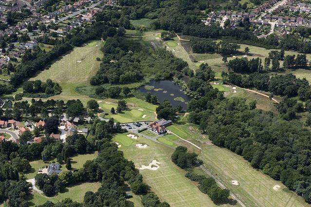 Ipswich Golf Club in Suffolk - UK aerial