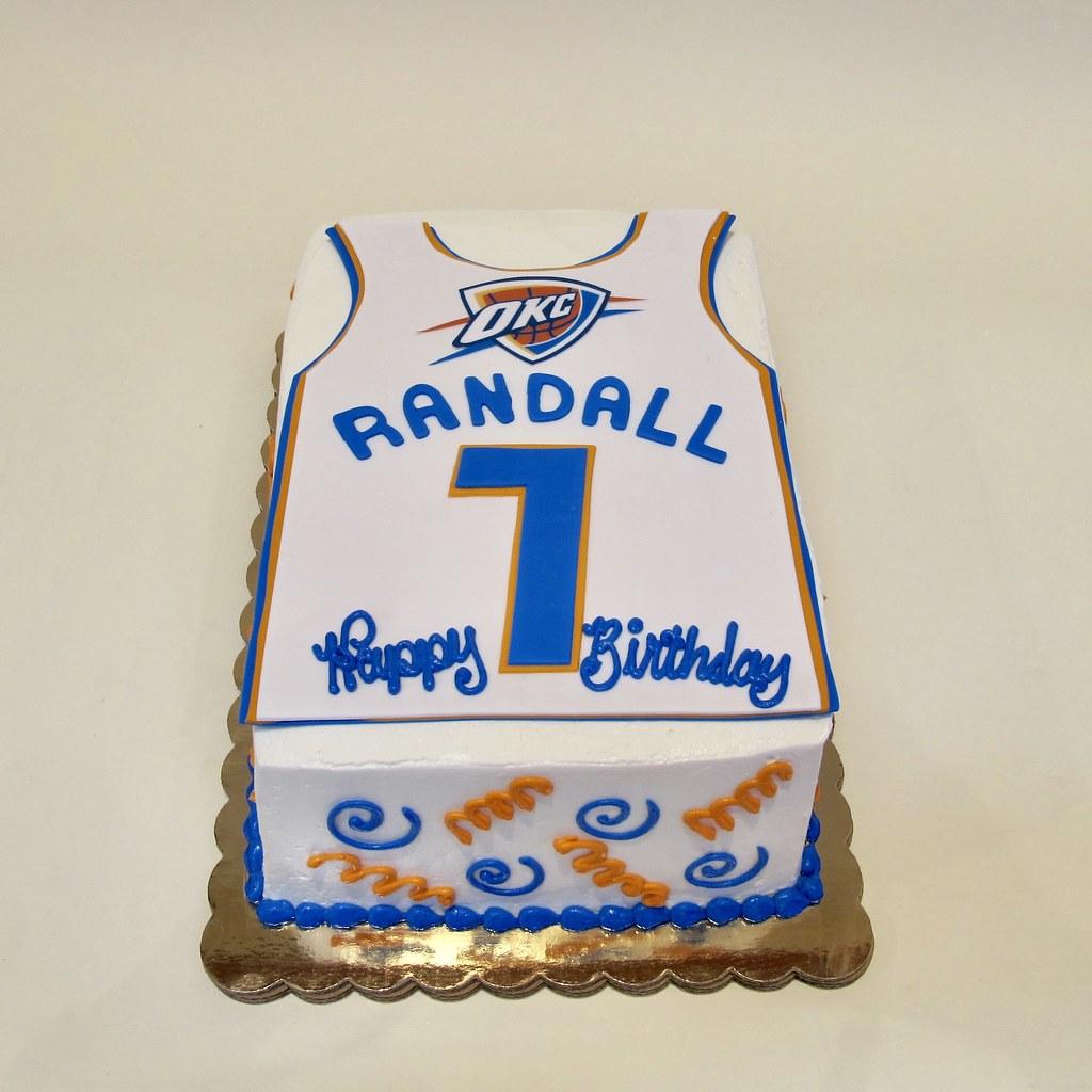 Tremendous Oklahoma City Basketball Jersey Birthday 301197 Creative Cakes Funny Birthday Cards Online Inifofree Goldxyz