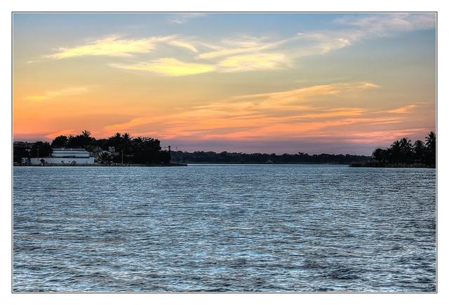 Flores GCA -  Lake Peten Itza at sunset 03