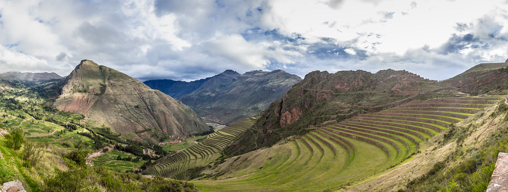 Pisac Terrazas De Cultivo Incas Panorama This Was The L
