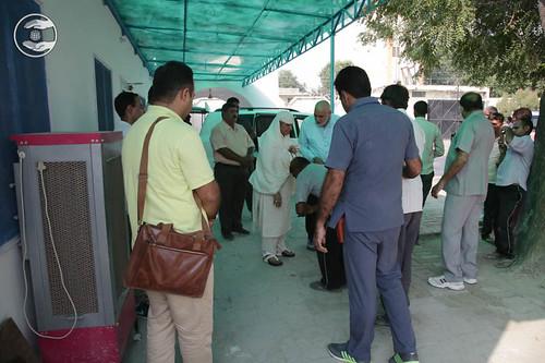Devotees seeking blessings at Gannaur, Haryana